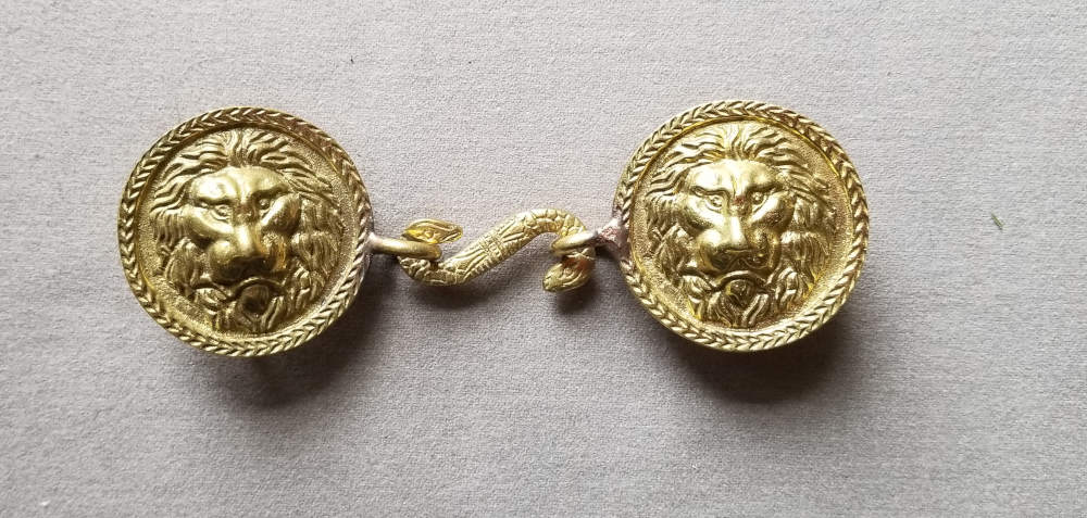 Sword Belt Buckle, Lion's Head