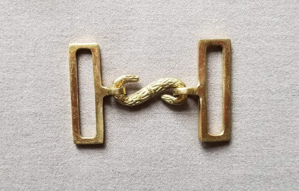Sword Belt Buckle, Snake Clasp