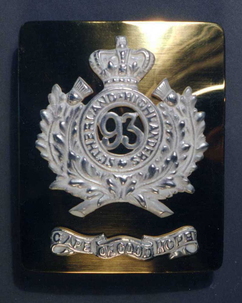 British, Crimean 93rd Officer Belt Plate