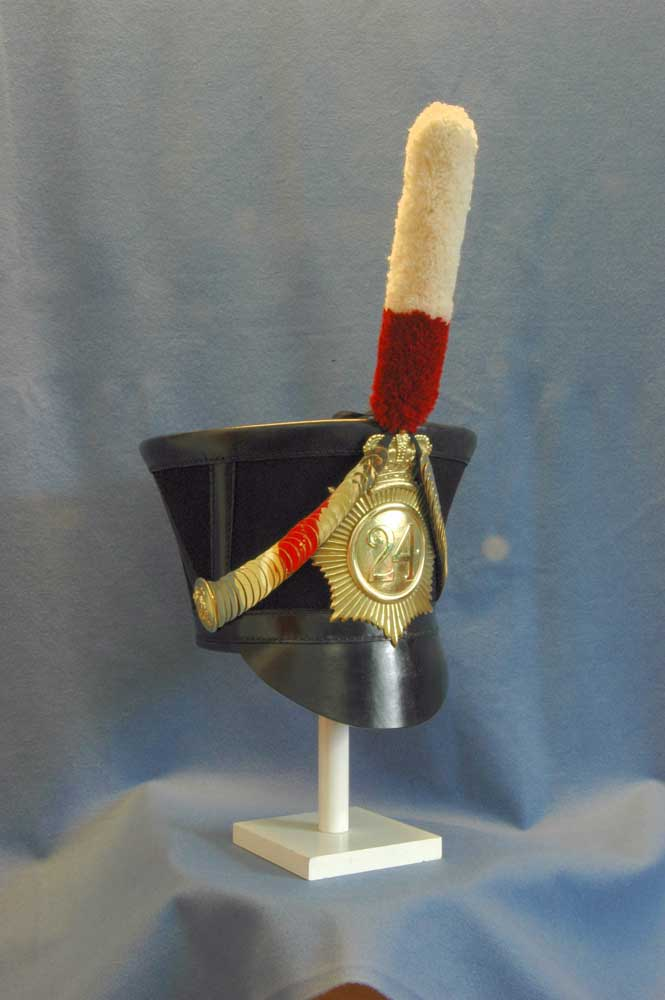 British, 24th Regt of Foot, Belltop Shako