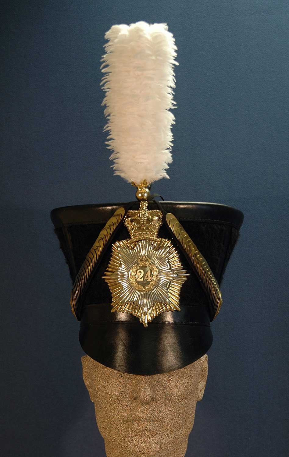 British, 24th Regt of Foot, Belltop Shako, Officer