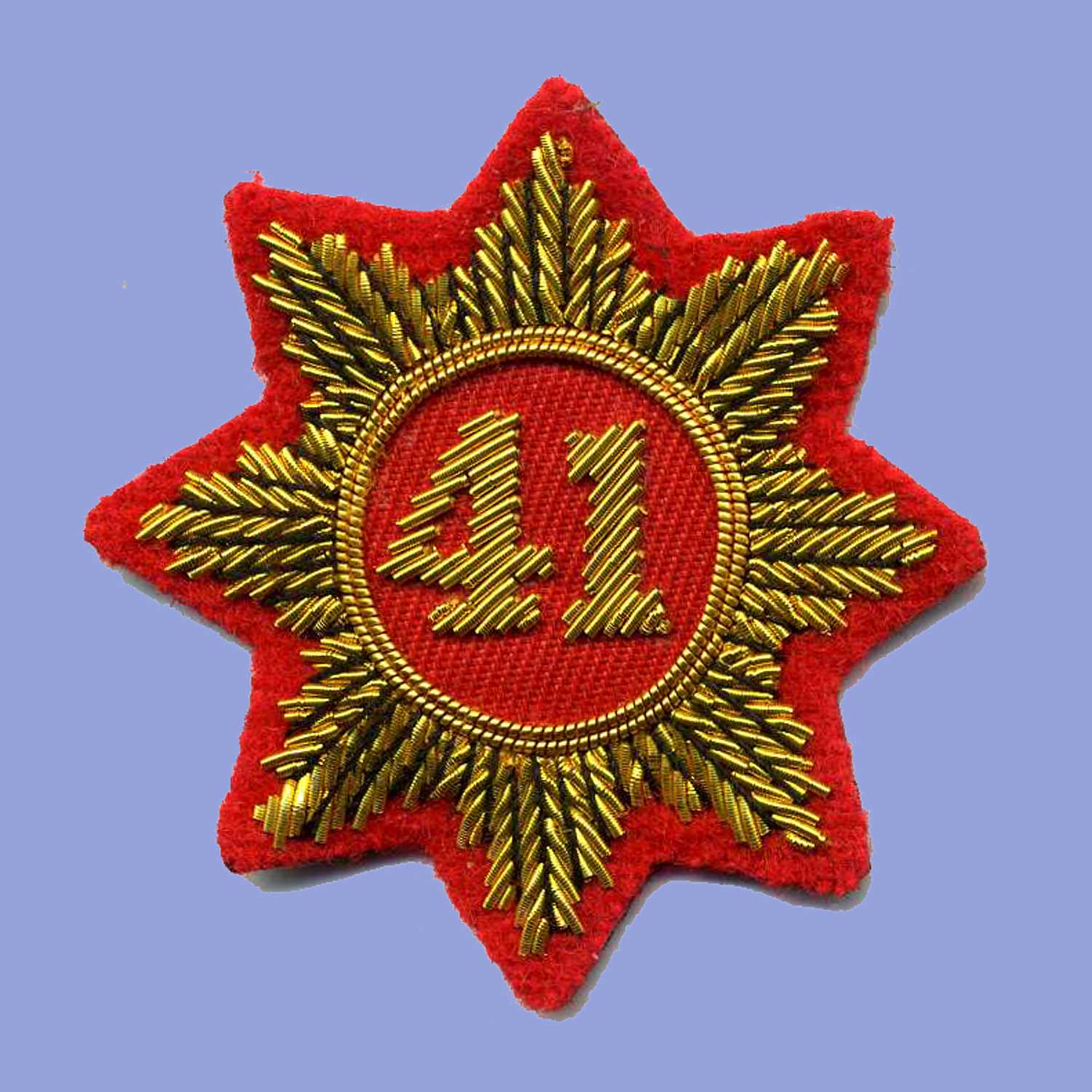 British, War of 1812, 41st Regt Turnback Badge (gold)