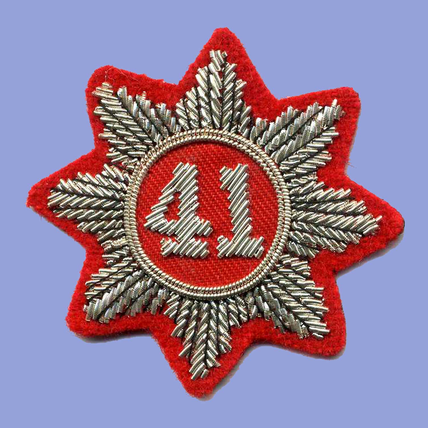 British, War of 1812, 41st Regt Turnback Badge (silver)