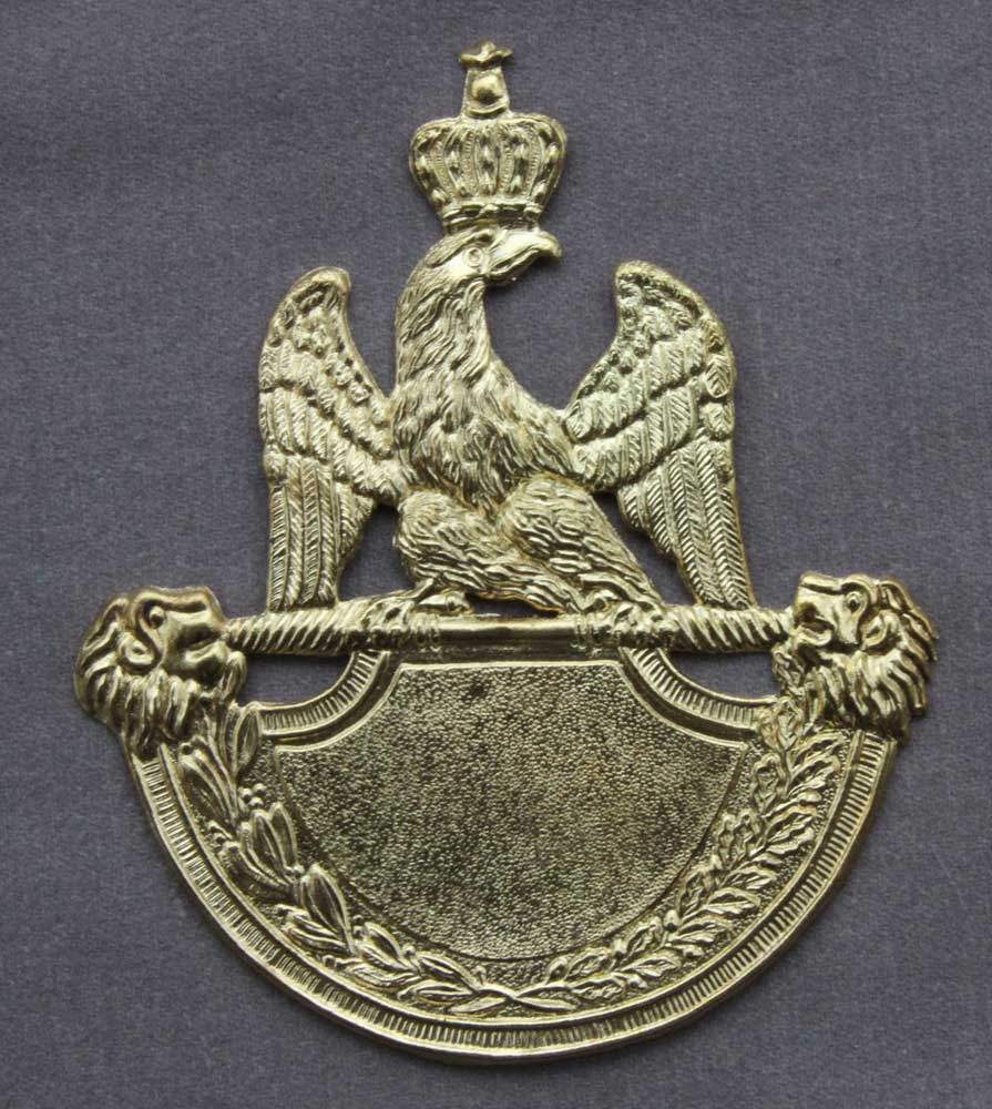 French, Infantry (1812-15) Shako Plate