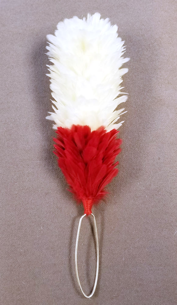 "Plume, 6"" White over Red"