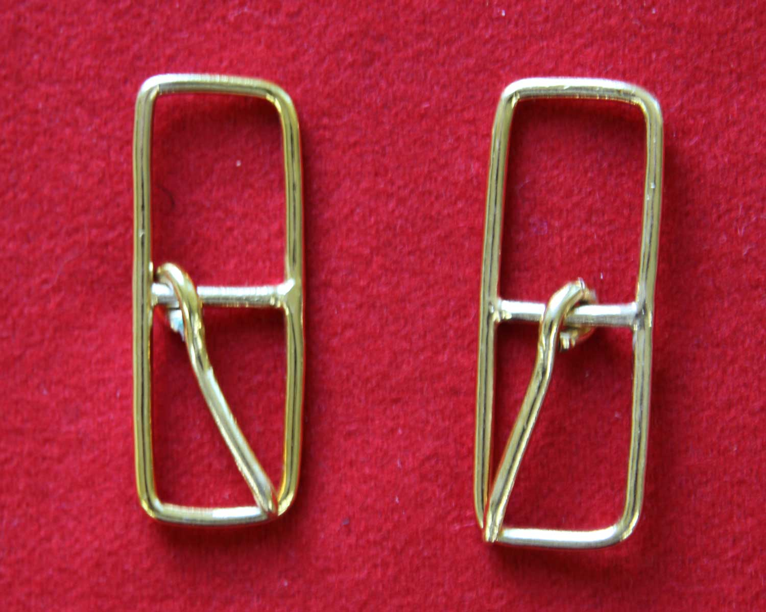 Sword Sling Buckles, gold plated