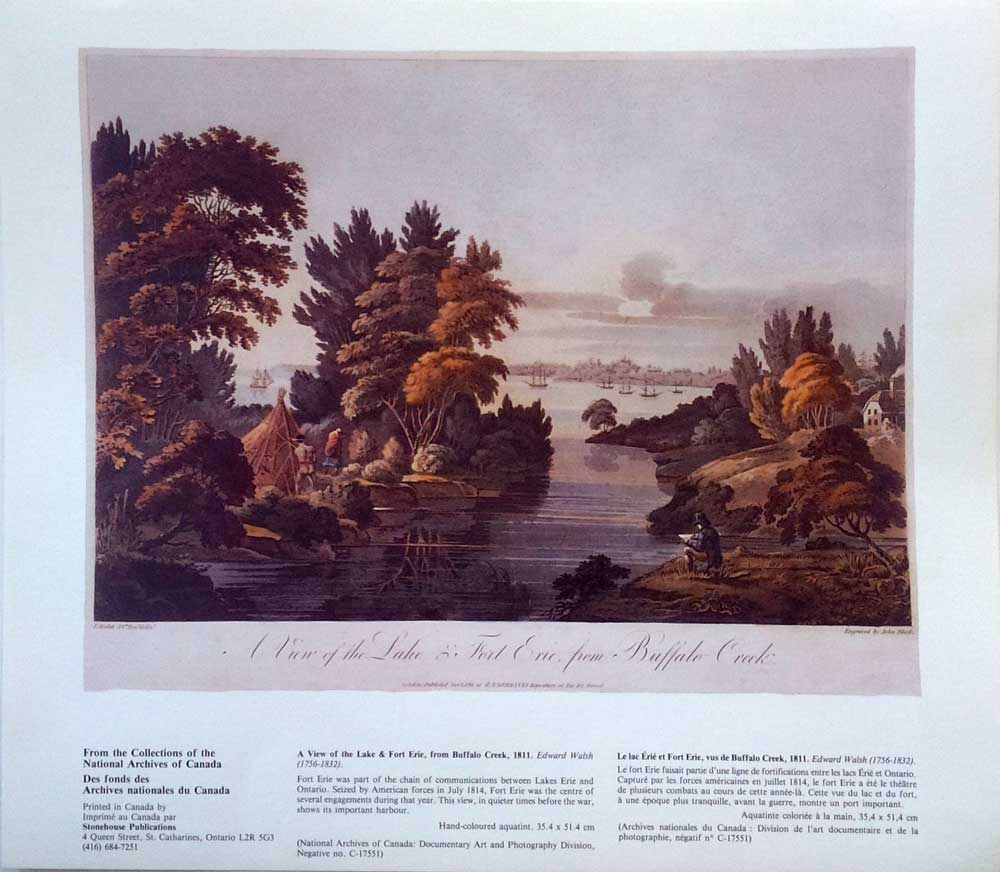 View of the Lake & Fort Erie from Buffalo Creek, 1811