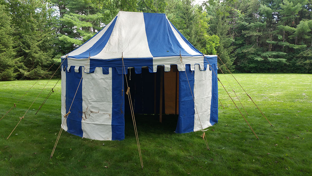 9 x 13 ft Oval Marquee, Blue and White