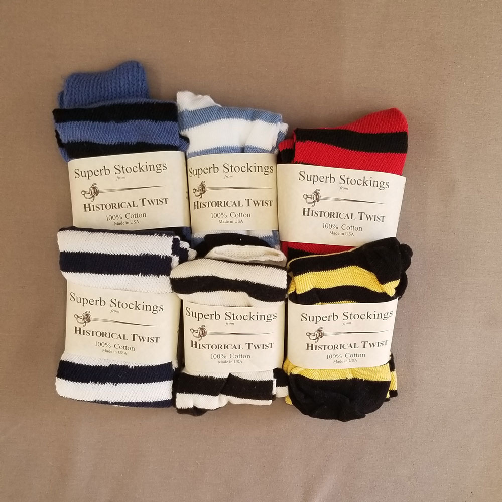 90% Cotton, Horizontal Striped Stockings