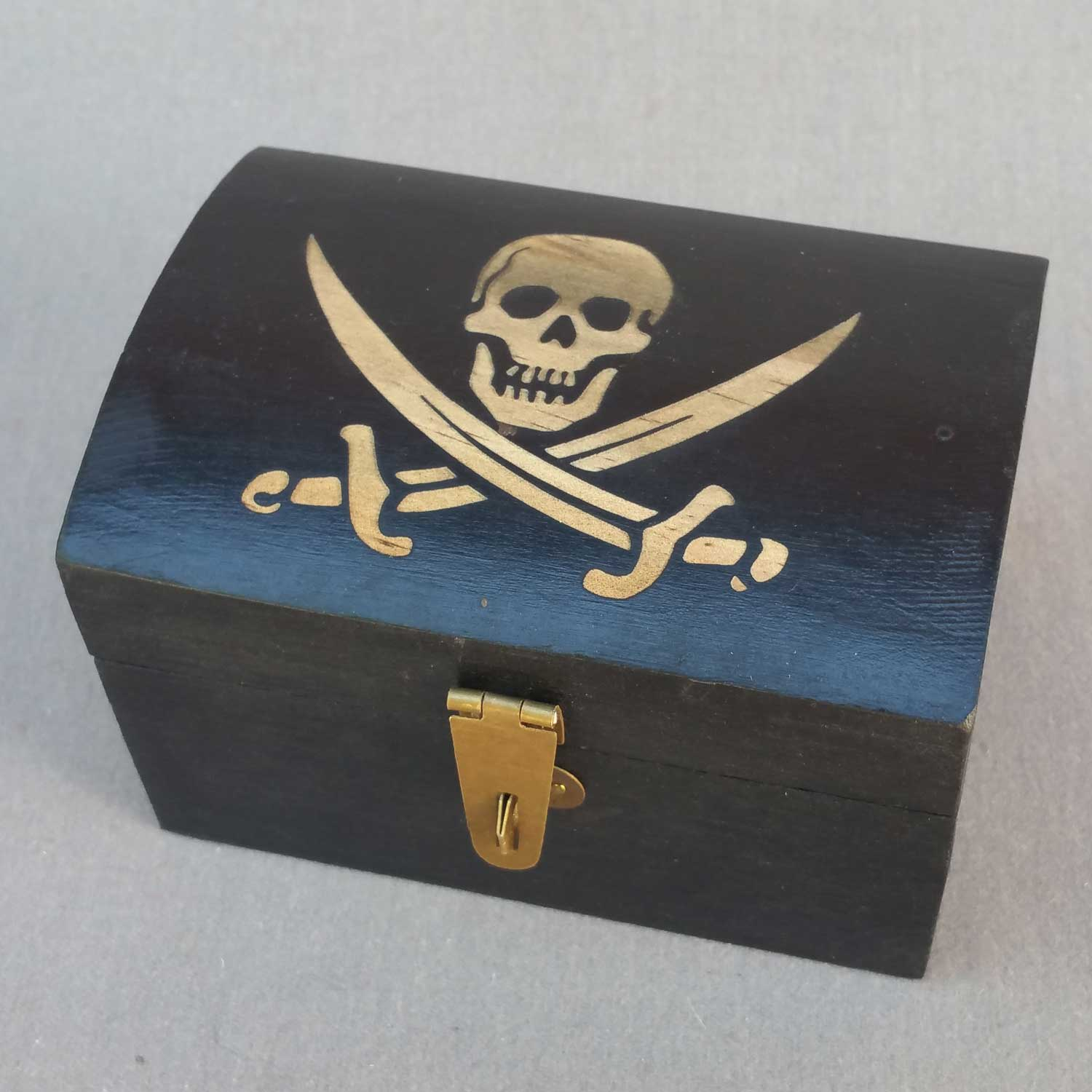 Pirate Chest, Small, with Skull & Crossbones