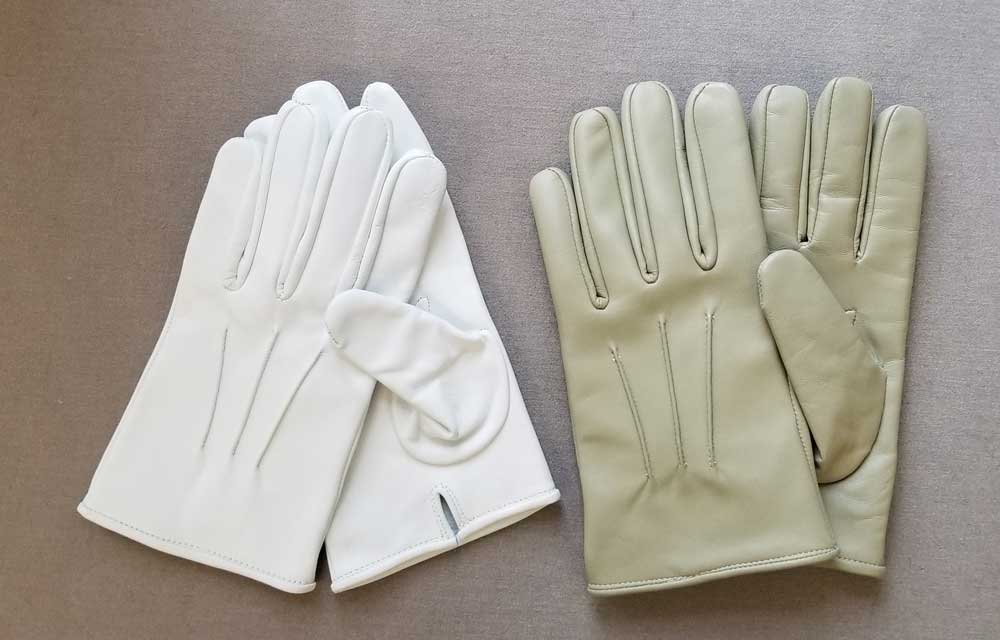 Gloves, White Leather