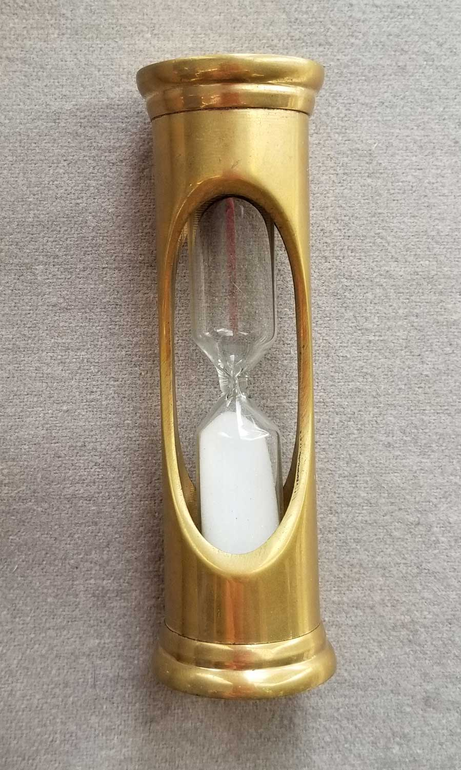 3 Minute Brass Hourglass